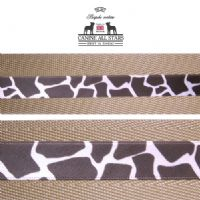 MARTINGALE DOG COLLAR - CLASSIC ANIMAL PRINT GIRAFFE